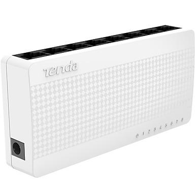tenda S 108 8 port ethernet switch küçük ve akıllı bir masaüstü düğmesi 8 * 10/100 Mbps RJ45 portları ağ switchs poe