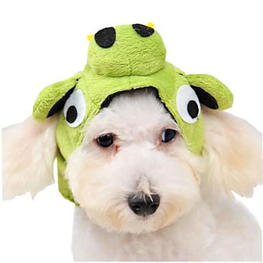 Kedi Köpek Bandanalar & Şapkalar Köpek Giyimi Sevimli Karton Yeşil