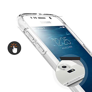 Pouzdro Uyumluluk Samsung Galaxy Samsung Galaxy Kılıf Şeffaf Arka Kapak Solid TPU için S6
