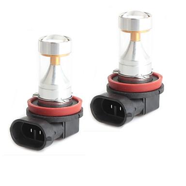 HJ H11 LED-uri 30W 2600lm 6000-6500k 6x2835 smd bec lumina alba pentru lumina de ceață auto (12-24V, 2 buc)