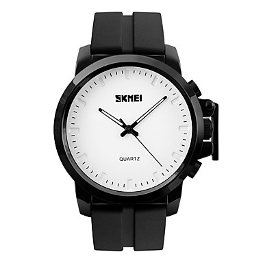 SKMEI Bărbați Ceas Elegant Ceas La Modă Ceas de Mână Quartz Rezistent la Apă Mare Dial Silicon Bandă Cool Negru Auriu Alb Negru Albastru