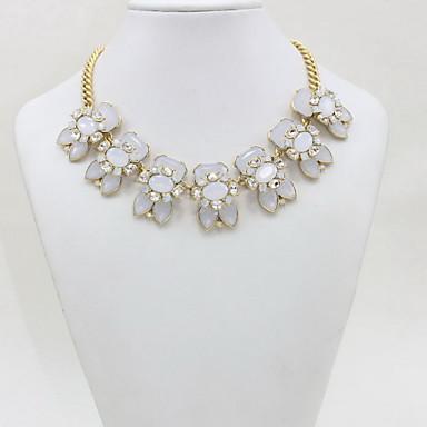 Kadın Uçlu Kolyeler Açıklama Kolye Heart Shape Kristal Arkilik Simüle Elmas Çiçek Lüks Moda Mücevher Uyumluluk Günlük