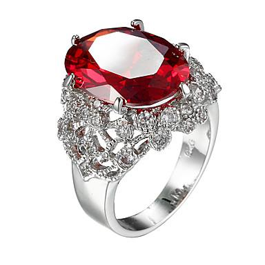 Inel Zirconiu Cubic Zirconiu Zirconiu Cubic Oțel La modă Rosu Bijuterii Casual 1 buc