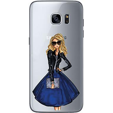 tok Για Samsung Galaxy S7 edge S7 Εξαιρετικά λεπτή Διαφανής Με σχέδια Πίσω Κάλυμμα Σέξι κυρία Μαλακή TPU για S7 edge S7 S6 edge plus S6