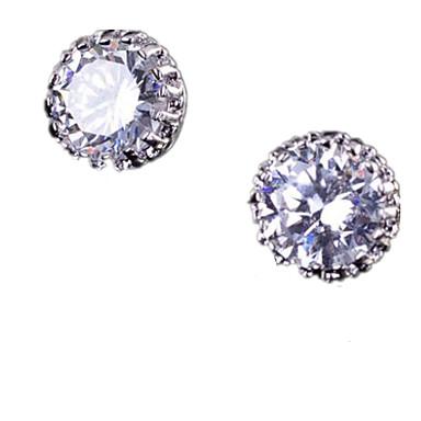 Γυναικεία Κουμπωτά Σκουλαρίκια κοσμήματα πολυτελείας Πολύχρωμα Ζιρκονίτης Cubic Zirconia Χαλκός Crown Shape Κοσμήματα Για Γάμου Causal