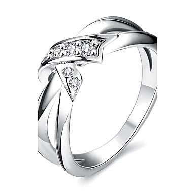 نساء خاتم مكعب زركونيا أوروبي زركون مكعبات زركونيا نحاس Bowknot Shape مجوهرات يوميا فضفاض