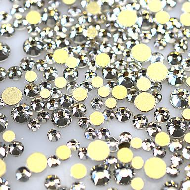 1440pcs/Pack Nail Jewelry Yapay elmas Parlaklık ve ışıltı Pullu ve Işıltılı Tırnak Tasarımı Tasarımı