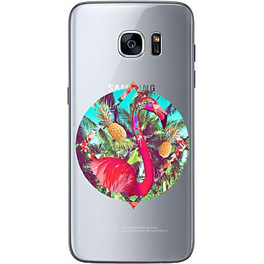 Pouzdro Uyumluluk Samsung Galaxy S7 edge S7 Ultra İnce Şeffaf Temalı Arka Kılıf Meyve Yumuşak TPU için S7 edge S7 S6 edge plus S6 edge S6