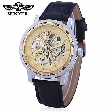 Bărbați Ceas Sport Ceas Elegant Ceas La Modă ceas mecanic Mecanism automat Calendar Mare Dial Piele Autentică Bandă Vintage Casual