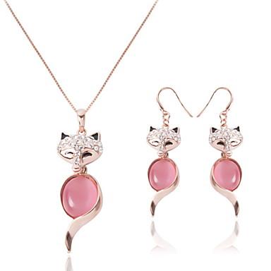 Pentru femei Sintetic Opal Opal Set bijuterii 1 Pereche de Cercei Coliere - Viulpe Animal Roz Pentru Nuntă Petrecere