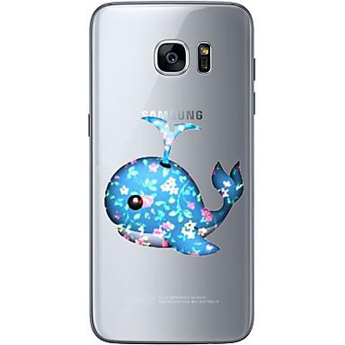 Kılıf Na Samsung Galaxy S7 edge S7 Ultra cienkie Przezroczyste Wzór Czarne etui Zwierzę Miękkie TPU na S7 edge S7 S6 edge plus S6 edge S6