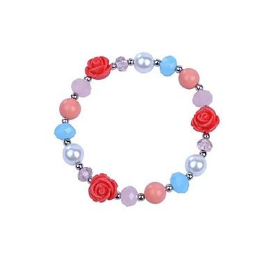 نساء أساور السلسلة والوصلة موضة سبيكة وردة مجوهرات من أجل حزب هدية يوميا فضفاض