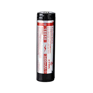 xtar 18650 3400mah 3.6V Li-ion şarj edilebilir pil