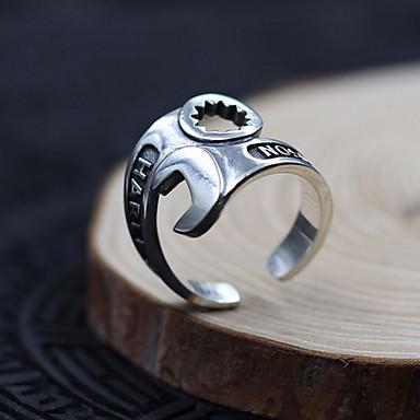 Ανδρικά Γυναικεία Δαχτυλίδι Κοσμήματα Εξατομικευόμενο Προσαρμόσιμη Ανοικτό Ασήμι Στερλίνας Κοσμήματα Για Καθημερινά Causal