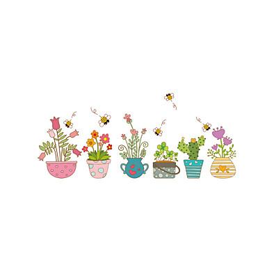 مناظر طبيعية أزياء المزين بالأزهار ملصقات الحائط لواصق حائط الطائرة لواصق حائط مزخرفة, الفينيل تصميم ديكور المنزل جدار مائي جدار زجاج /