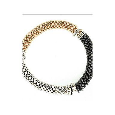 نساء أساور السلسلة والوصلة موضة حجر الراين سبيكة مجوهرات من أجل حزب هدية يوميا فضفاض