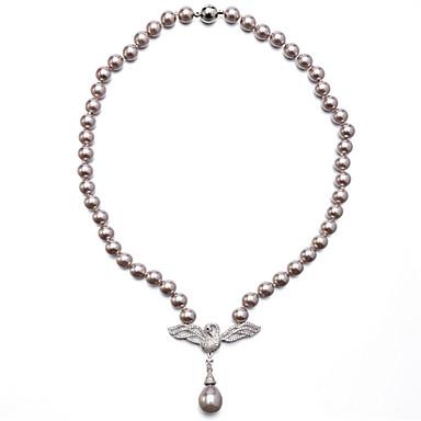Damskie Naszyjniki choker Perłowy Cyrkon Cyrkonia Okragły luksusowa biżuteria Biżuteria Na Codzienny