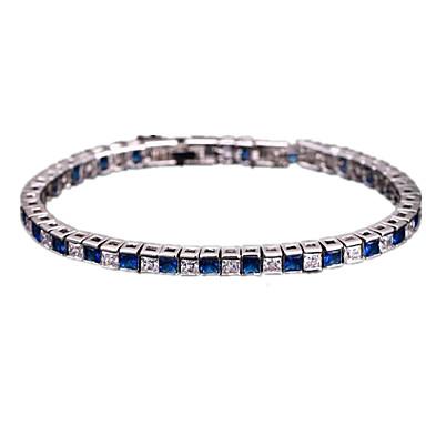 Γυναικεία Βραχιόλια με Αλυσίδα & Κούμπωμα κοσμήματα πολυτελείας Μοντέρνα Ζιρκονίτης Cubic Zirconia Χαλκός Επιχρυσωμένο Κοσμήματα Για