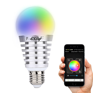 YouOKLight 1PC 7.5W 600 lm E26/E27 مصابيح صغيرة LED A60(A19) 10 الأضواء طاقة عالية LED ديكور أبيض دافئ أبيض كول أبيض طبيعي RGB أس 100-240V
