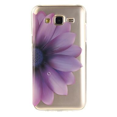 Pouzdro Uyumluluk Samsung Galaxy J5 (2016) J3 (2016) IMD Şeffaf Temalı Arka Kılıf Çiçek Yumuşak TPU için J5 (2016) J5 J3 (2016) J3 Grand