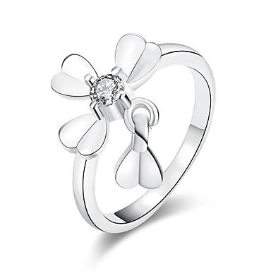 Γυναικεία Δαχτυλίδι Cubic Zirconia Love Καρδιά Ευρωπαϊκό Ζιρκονίτης Cubic Zirconia Χαλκός Κοσμήματα Καθημερινά Causal