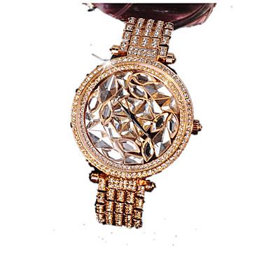 Kadın's Moda Saat Sahte Elmas Saat Kol Saatleri Quartz Takvim imitasyon Pırlanta Alaşım Bant Işıltılı Gül Altın