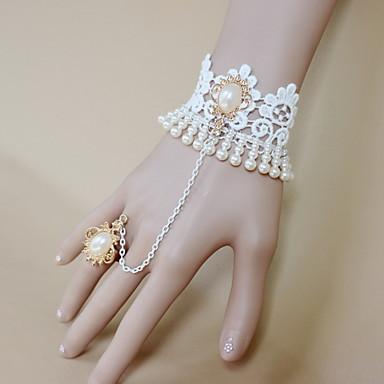 Γυναικεία Δαχτυλίδια με Βραχιόλι Βίντατζ Γκόθικ Δαντέλα Καρδιά Λουλούδι Κοσμήματα Halloween