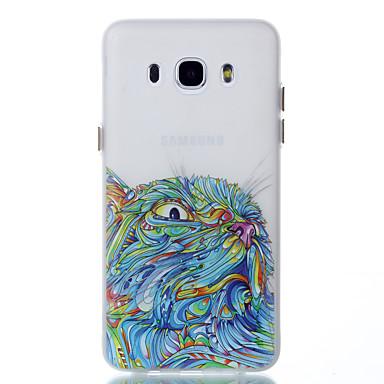 Na Etui Pokrowce Świecące w ciemności Wzór Etui na tył Kılıf Kot Miękkie Poliuretan termoplastyczny na Samsung Galaxy J5 (2016) J3 J3