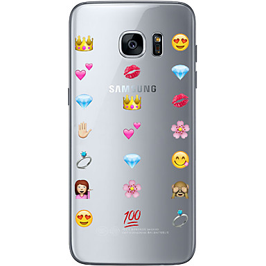 Kılıf Na Samsung Galaxy S7 edge S7 Ultra cienkie Przezroczyste Wzór Czarne etui Rysunek Miękkie TPU na S7 edge S7 S6 edge plus S6 edge S6