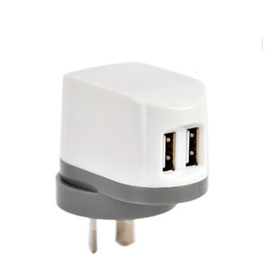 Carregador Fixo Carregador Portátil Carregador USB do telefone Ficha AU Portas Multiplas 2 Portas USB 2.4A AC 100V-240V Para iPad Para