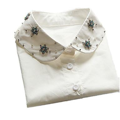 Dame Guler Bijuterii Dantelă Design Basic Alb Bijuterii Pentru Zi de Naștere Zilnic Casual 1 buc