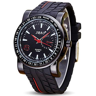 Bărbați Ceas de Mână Ceas Sport Quartz / Silicon Bandă Casual Cool Negru