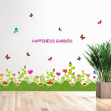 Cuvinte & Citate Modă Florale Perete Postituri Autocolante perete plane Autocolante de Perete Decorative,Hârtie MaterialPagina de