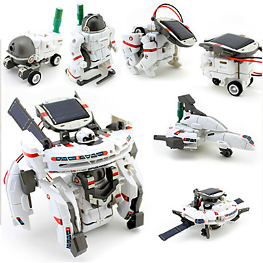 7 IN 1 إنسان آلي لعبة سيارات ألعاب الطاقة الشمسية ألعاب الفضاء لعبة الطائرات العلوم والاستكشاف مجموعات ألعاب إنسان آلي تعمل بالطاقة