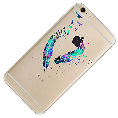 X 7 Apple per Custodia Plus iPhone iPhone Per Fantasia TPU retro iPhone sottile Per 8 iPhone disegno Ultra Morbido iPhone 6 7 05556853 Piume zBxzqtSw5n