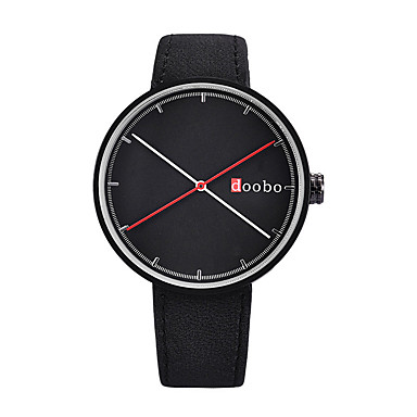 Ανδρικά Γυναικεία Μοδάτο Ρολόι Μοναδικό Creative ρολόι Χαλαζίας / Δέρμα Μπάντα Καθημερινά Μαύρο Λευκή