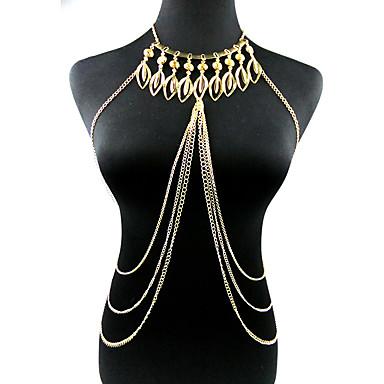 سلسلة الجسم / سلسلة البطن - للمرأة ذهبي منتظم موضة أخرى Leaf Shape مجوهرات الجسم  من أجل حزب مناسبة خاصة الذكرى السنوية عيد ميلاد هدية