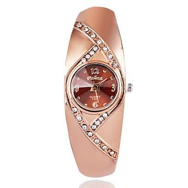 Damskie Modny Zegarek na nadgarstek Kwarcowy / sztuczna Diament Pokryte różowym złotem Stop Pasmo Na co dzień Elegancki Brązowy Różowe