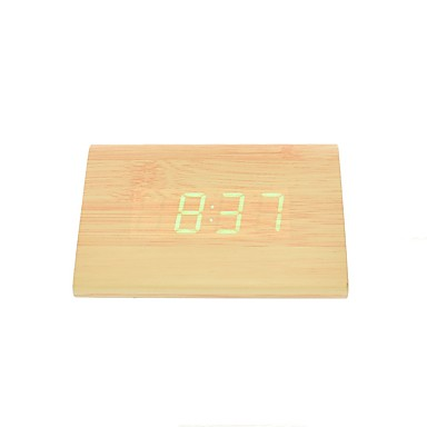 raylinedo® uusin design muoti bambu puu vihreä led valo puinen digitaalinen herätys -aika lämpötila päivämäärä näyttö - ääni- ja kosketus