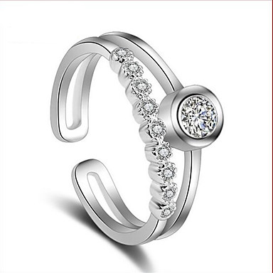 Pierscionek Cyrkonia Srebro standardowe Cyrkon Cyrkonia Silver Biżuteria Ślub Impreza Codzienny Casual 1szt