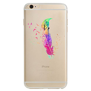 Na Ultra cienkie Wzór Kılıf Etui na tył Kılıf Pióro Miękkie TPU na Apple iPhone 7 Plus iPhone 7 iPhone 6s Plus/6 Plus iPhone 6s/6