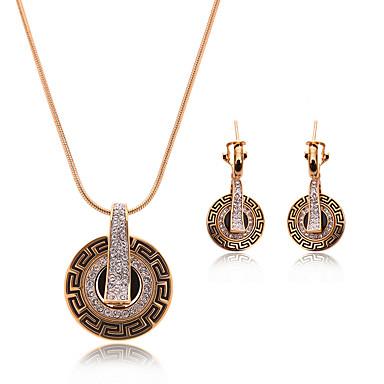 Στρας Κλασσικά Κράμα Cross Shape Χρυσό 1 Ζευγάρι σκουλαρίκια Κολιέ Για Γάμου Πάρτι 1set Δώρα Γάμου