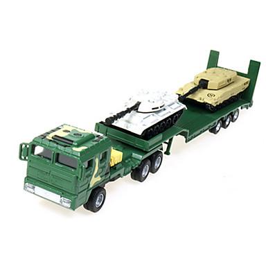 سيارة حربية شاحنة نقل عسكرية لعبة الشاحنات ومركبات البناء لعبة سيارات 1:60 قابل للسحب بلاستيك ABS معدن 1pcs فتيات صبيان للأطفال ألعاب هدية