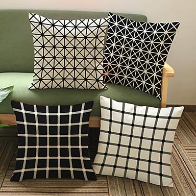 4.0 szt Bielizna Poszewka na poduszkę,Geometryczny Modern / Contemporary