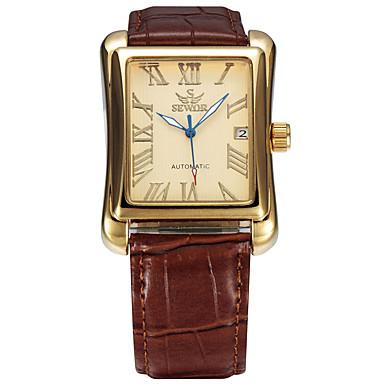 Bărbați Ceas Sport Ceas La Modă Ceas de Mână ceas mecanic Mecanism automat Calendar Piele Autentică Bandă Casual Luxos Multicolor
