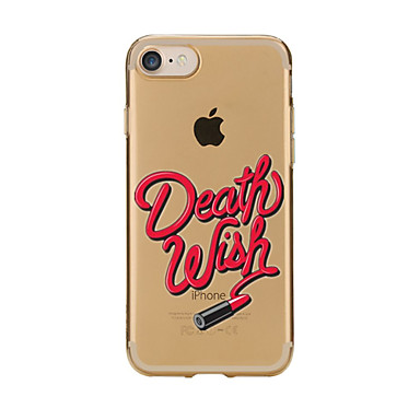 Για Διαφανής Με σχέδια tok Πίσω Κάλυμμα tok Σέξι κυρία Μαλακή TPU για AppleiPhone 7 Plus iPhone 7 iPhone 6s Plus/6 Plus iPhone 6s/6