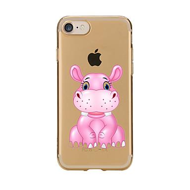 tok Για Apple Θήκη iPhone 5 iPhone 6 iPhone 7 Διαφανής Με σχέδια Πίσω Κάλυμμα Κινούμενα σχέδια Μαλακή TPU για iPhone 7 Plus iPhone 7