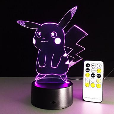 مصباح طاولة الكرتون مع تأثير 3D أدى ضوء الليل عطلة ضوء متعة ضوء للطفل وزخرفة عيد ميلاد هدية