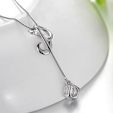 Kolye Uçları Müzik notası Som Gümüş Zirkon Kübik Zirconia Basic Tasarım Moda lüks mücevher Mücevher Uyumluluk Günlük