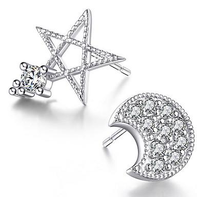 Vidali Küpeler Kristal Kübik Zirconia Som Gümüş Gümüş Mücevher Için Düğün Parti Günlük 1 çift